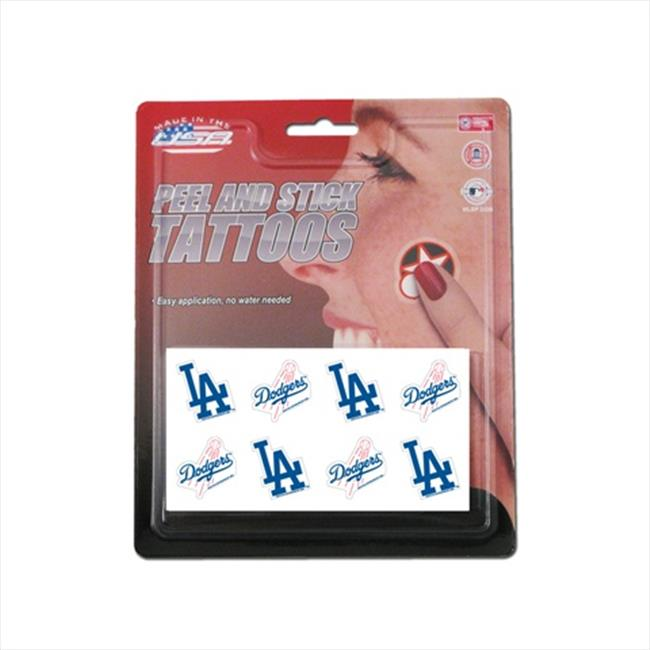 Rico Los Angeles Dodgers Official MLB 1 X 1 inch 8 Piece Tattoo Set