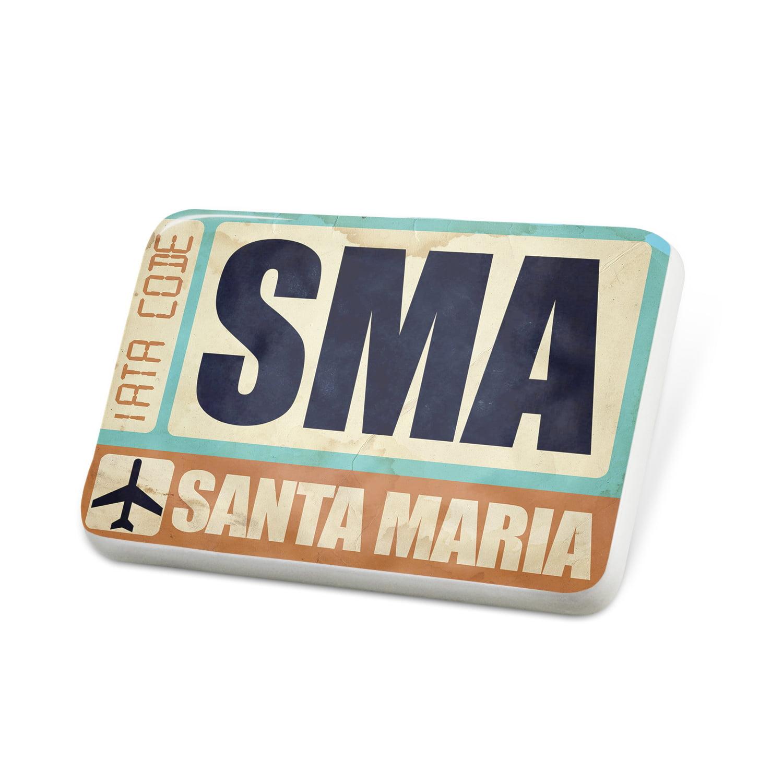 Porcelein Pin Airportcode SMA Santa Maria Lapel Badge – NEONBLOND