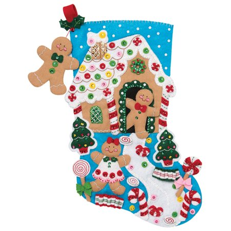 Bucilla® Gingerbread House Stocking - Gingerbread Man Stocking