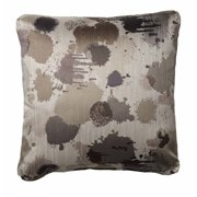 """Homeware 18"""" Throw Pillows in Pewter (Set of 2)"""