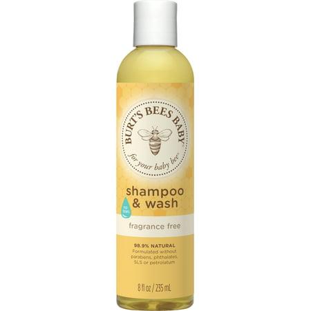 Burt's Bees Baby Shampoo & Wash, Fragrance Free & Tear Free Baby Soap - 8 Ounce Bottle - Free 8 Ounce Fragrance