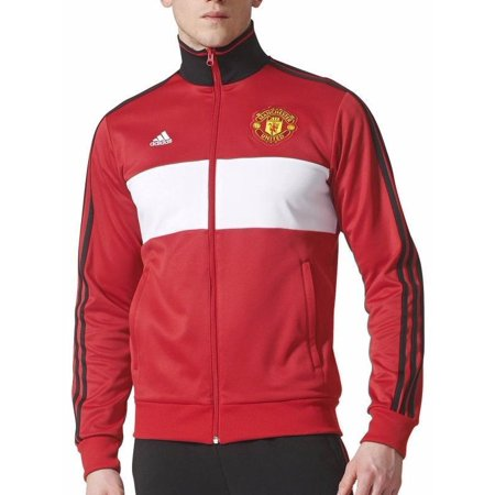 218d52a693daf adidas - adidas Men s Manchester United 3-Stripes Track Jacket - Walmart.com