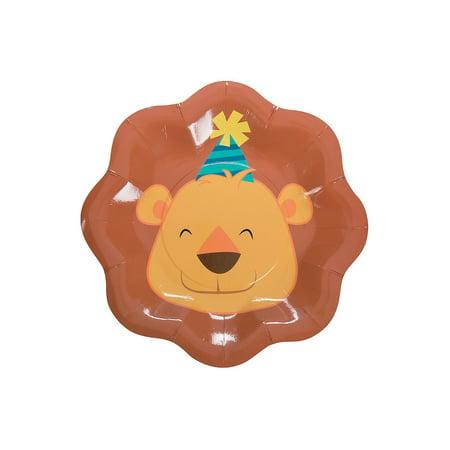 IN-13784820 1st Birthday Zoo Dessert Plates 8 Piece(s) - Zoo Plates