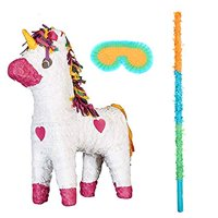 Unicorn Party Supplies Pinata with Eye Mask and Buster