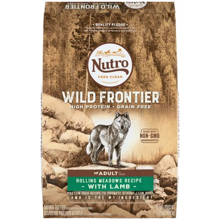 NUTRO WILD FRONTIER Adult Rolling Meadows Recipe Grain Free Lamb Dry Dog Food 24 Pounds