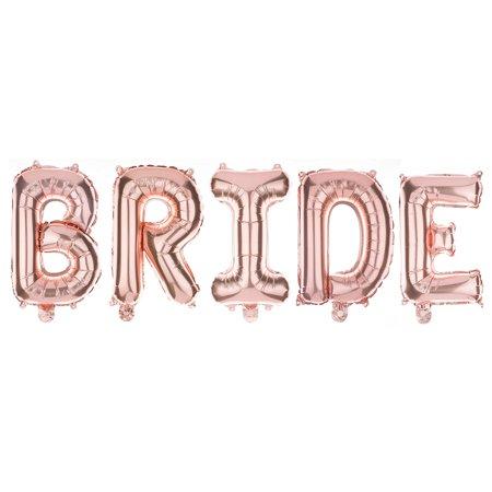 non floating bride letter balloons bridal shower bachelorette party decorations rose gold walmartcom