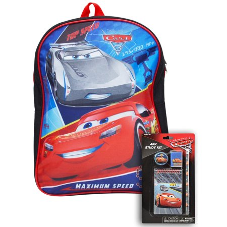 "Cars Boys Lightning McQueen 15"" Backpack & 4Pc Study Kit - image 2 of 2"