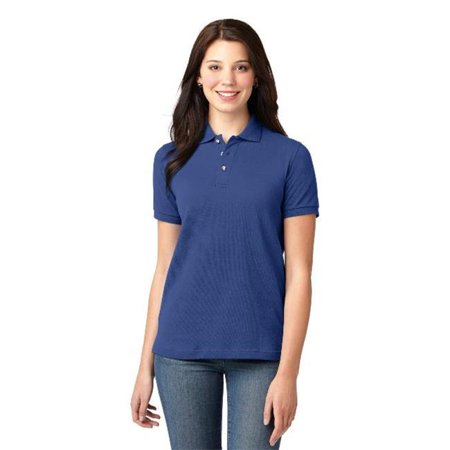 Port Authority® Ladies Heavyweight Cotton Pique Polo.  L420 Royal Xl - image 1 de 1