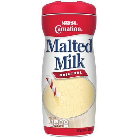 - (2 Pack) CARNATION Original Malted Milk Mix 13 oz. Cannister
