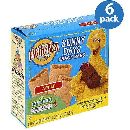 Earth's Best Sunny Days Apple Snack Bars, 5.3 oz (Pack of 6)