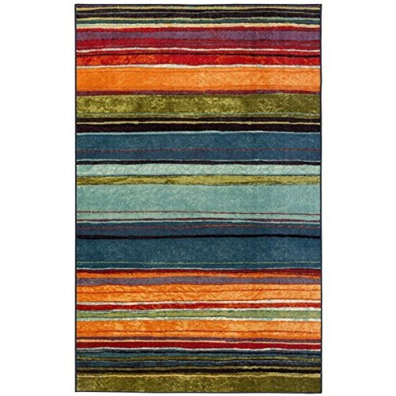 Townhouse Rugs 96-Inch by 120-Inch Area Rug, Carnival Stripe, Multi