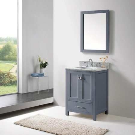 Virtu usa caroline avenue 24 inch grey single bathroom vanity cabinet set Bathroom cabinets made in usa