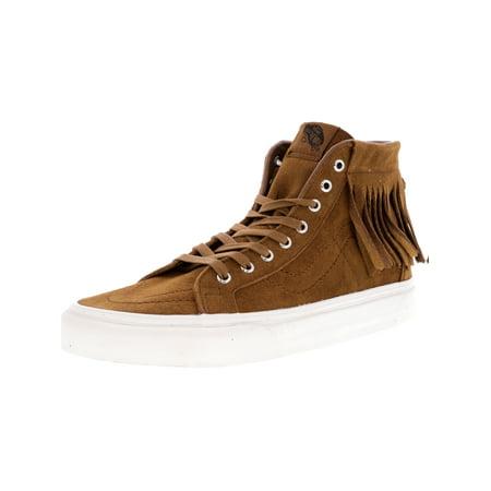 82a5bc4dbe Vans Sk8-Hi Moc Suede Monks Robe   Blanc De Ankle-High Fashion Sneaker - 7M  5.5M