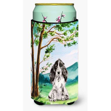 Part I Cocker Spaniel (Under the Tree Black Parti Cocker Spaniel Tall Boy Beverage Insulator Hugger CK2017TBC )