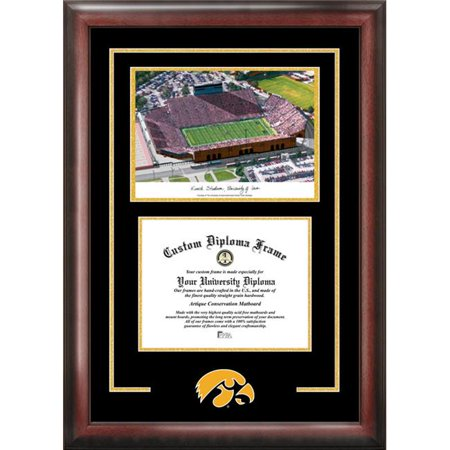 Campus Images IA997SG University of Iowa Kinnick Stadium Spirit Graduate Frame with Campus Image