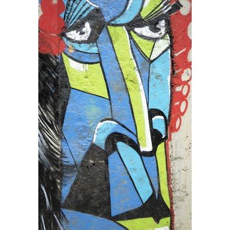 LAMINATED POSTER Face Graffiti Sofia Street Art Bulgaria Poster Print 24 x - Sofia Halloween Face Art Games