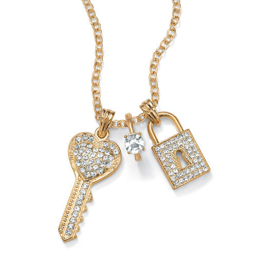 Palm Beach Jewelry 14k Gold Plated Pendant Necklace