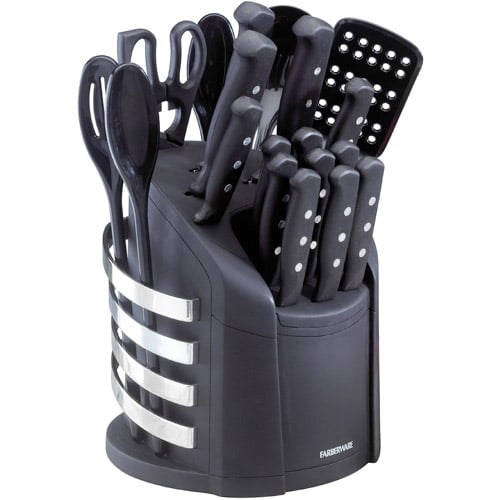 Farberware 17-Piece Never Needs Sharpening Knife and Kitchen Tool Set by Lifetime Brands