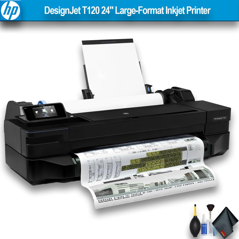 """HP DesignJet T120 24"""" Large-Format Inkjet Printer Essential Bundle"""