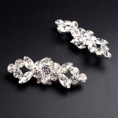 2pcs Crystal Crystal High Heel Shoe Charming Clips Rhinestone Wedding Diamante - image 6 of 7