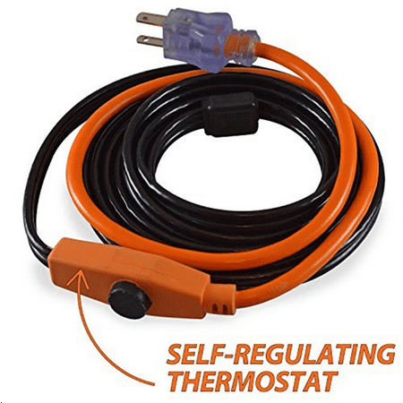 Cold Weather Pipe and Valve Heating Cable with Built-in Thermostat - 3