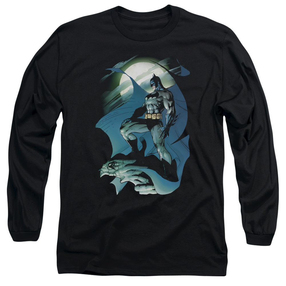 BATMAN/GLOW OF THE MOON-L/S ADULT 18/1-BLACK-SM