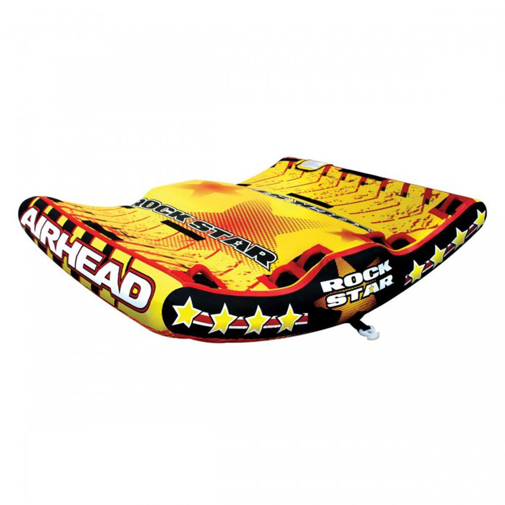 Airhead Rock Star 3 Person Inflatable U Shape Water Sport Boating Towable Tube