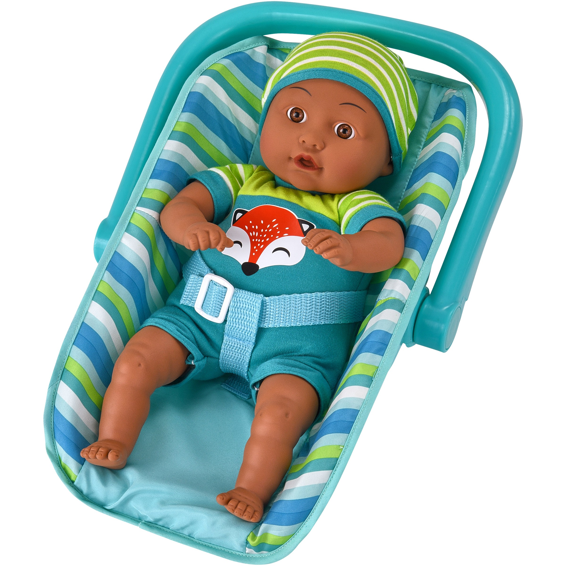 """My Sweet Love 13"""" Soft Baby Doll with Carrier, Teal Fox Outfit"""
