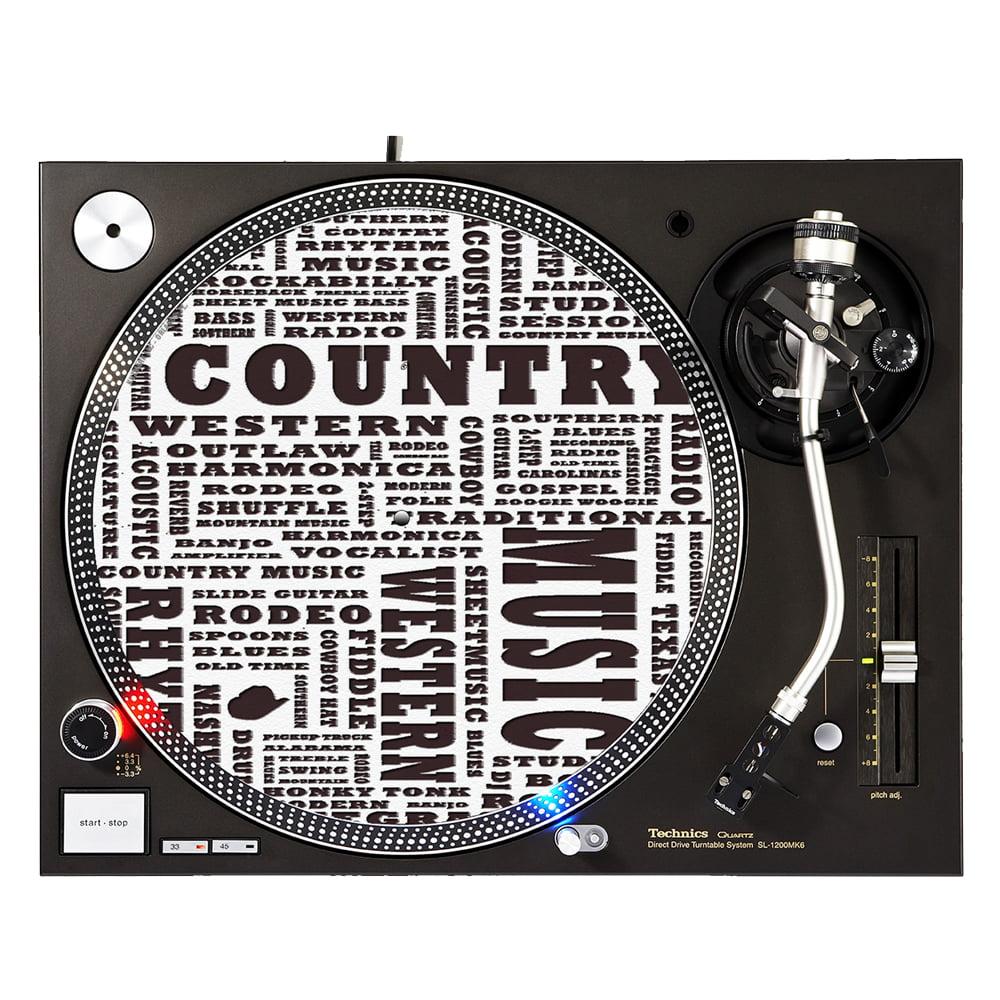 "KuzmarK™ 12"" DJ Turntable Slipmat - Country Music"