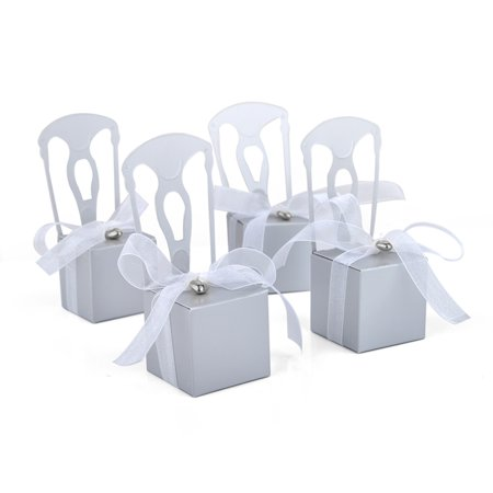 Aspire 100 PCS Wedding Favor Boxes Place Card Holders Chair Party Favor Candy Box Small Gift Boxes ()
