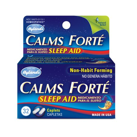 Hyland's Calms Forte Sleep Aid Tablets, Natural Stress Relief Sleep, 32 Count