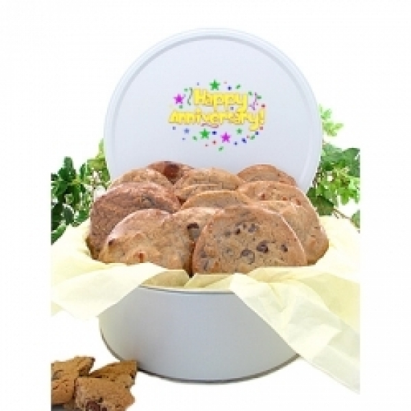 Anniversary Cookie Tin Bouquet 12 Gourmet Cookies by
