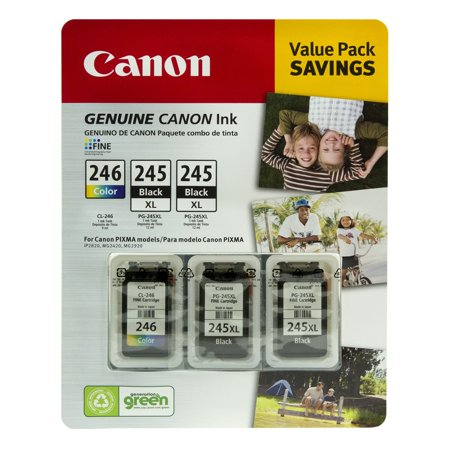 Canon PG-245XL/CL-246 Ink Tank Cartridge, Black/Tri-Color