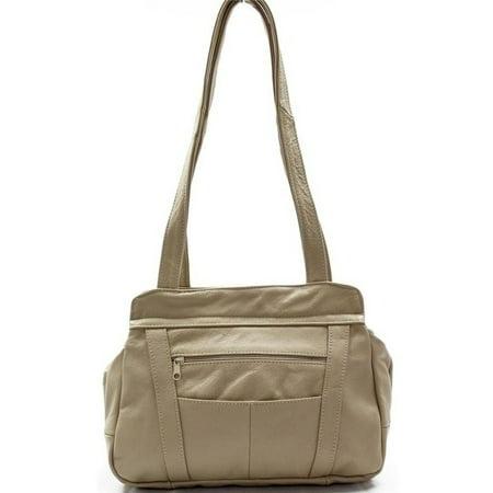 AFONiE - AFONiE 3 Compartment Leather Hobo Bag - Walmart.com 07bc8bd3fd03f
