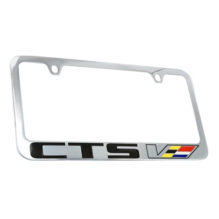 Cadillac CTS-V Chrome Plated Metal License Plate Frame Holder