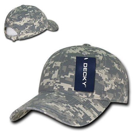 (Universal Uni Digital ACU Camo Polo Low Crown Curved Bill Baseball Ball Cap Hat)