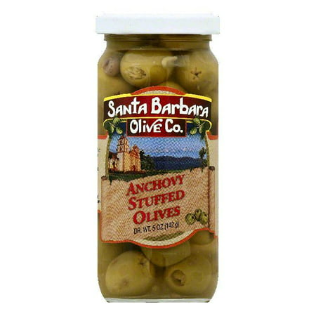Santa Barbara Anchovy Stuffed Olives, 5 OZ (Pack of (Best Of Mt Olive)
