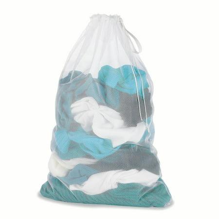 Lohas Home Set Of 2 White Mesh Laundry Bag 24 X 36 Inch