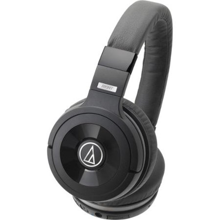 audio technica solid bass wireless over ear headphones with built in mic control stereo. Black Bedroom Furniture Sets. Home Design Ideas