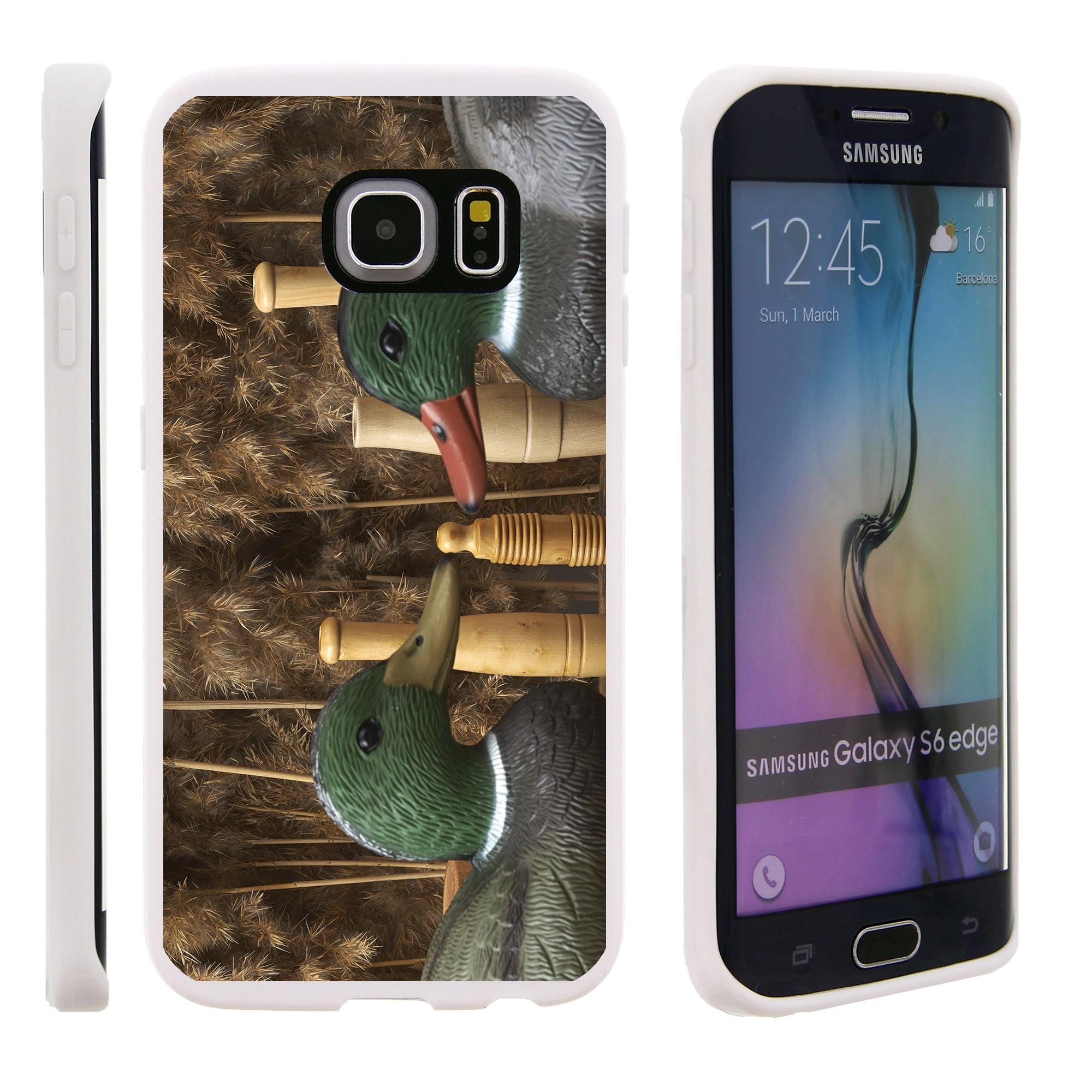 Samsung Galaxy S6 Edge G925, Flexible Case [FLEX FORCE] Slim Durable TPU Sleek Bumper with Unique Designs - Two Wood Ducks