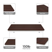 """HON Basyx Commercial-Grade Table Top ONLY for Height Adjustable Desk Base, 48"""", Walnut"""