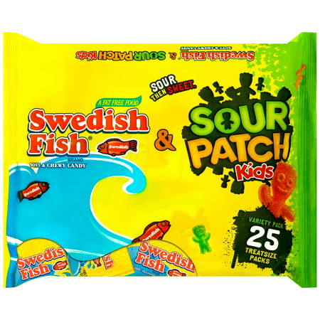 Sour patch kids and swedish fish treat size variety pack for Sour swedish fish