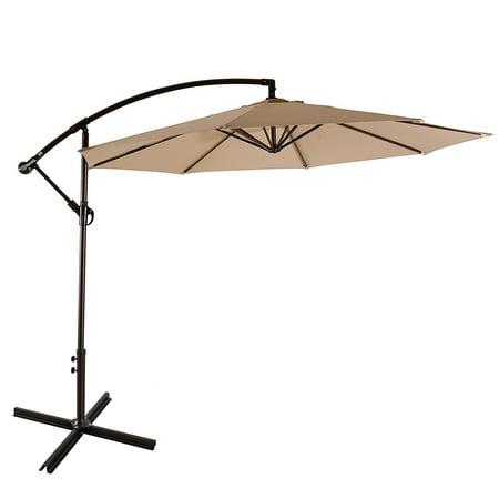 Bally 10 ft. Cantilever Hanging Patio Umbrella, Beige