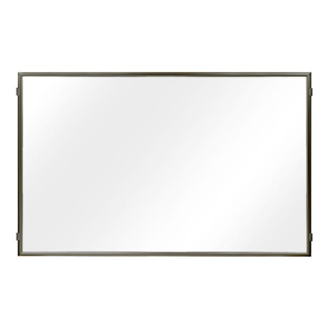 Lavi Industries 50-HFP1008-MB-CL Hinged Frame Sign Panel And Barrier, Matte Black
