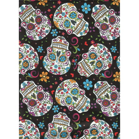 Fabric Fun Folk Folkloric Art Skull Fabric DT-2888-2C Sugar Skulls ... : tattoo quilt fabric - Adamdwight.com