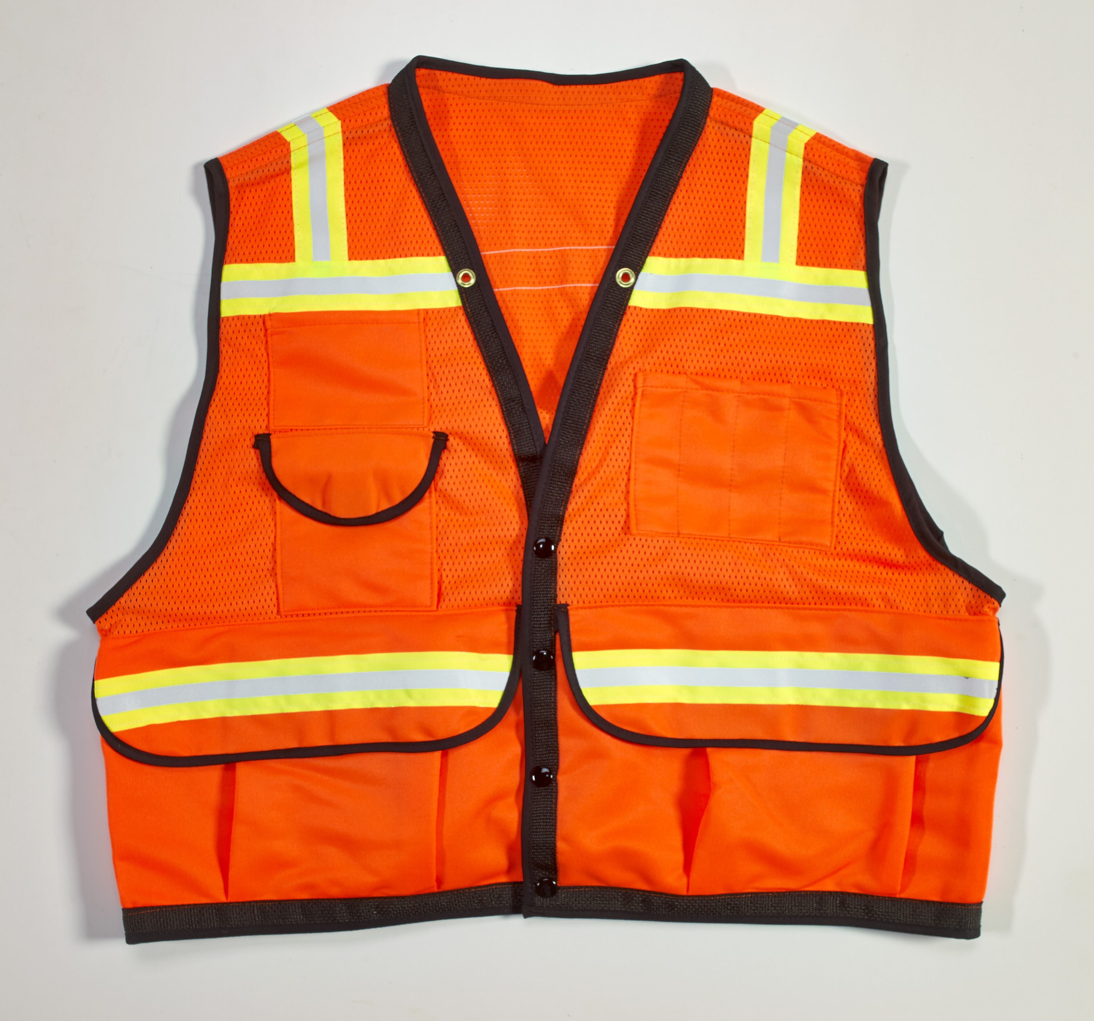Mutual High Visibility Mesh Super Deluxe Surveyor Vest wi...