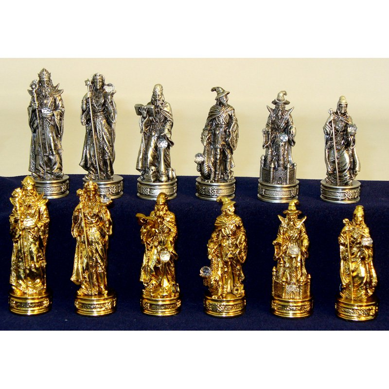 Royal Chess Fantasy Pewter Chess Pieces