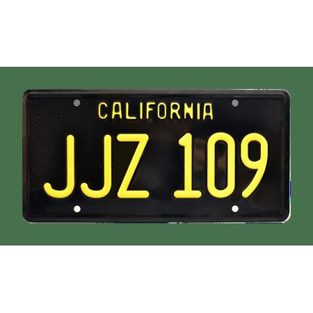 Bullitt | Steve McQueen's Mustang | JJZ 109 | Metal Stamped Replica Prop License Plate ()