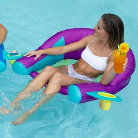 SwimWays AquaLinx Pool Float, Purple Aqua
