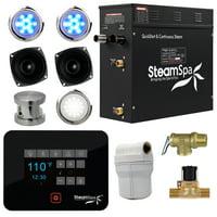 Steamspa Bkt750-A Black Series Bluetooth 7.5Kw Quickstart Steam Bath Generator P